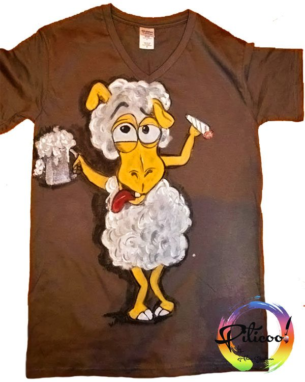 Tricouri personalizate Oaia betiva pictata