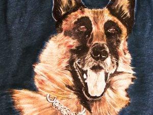 Tricou personalizat pictat caine lup - Piticool ART