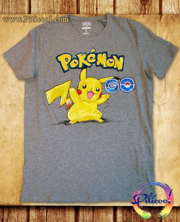 Tricou pictat manual Pokémon