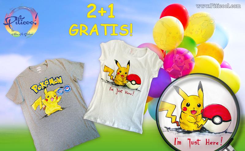 Tricouri pictate cu Pokémon GO - www.piticool.com