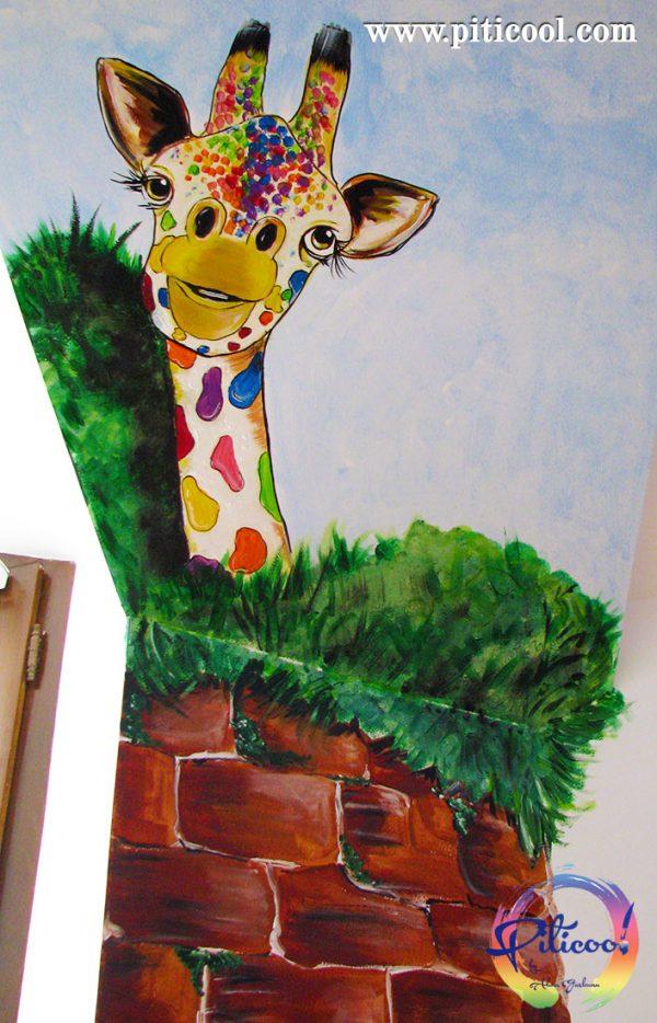 Perete pictat Girafa