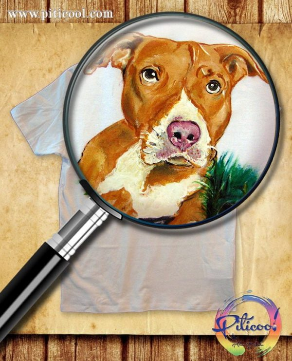 Tricou pictat Portret Caine - www.piticool.com