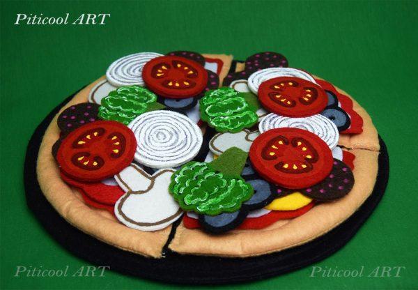 Jucarie din fetru - PIZZA, Handmade | Piticool ART