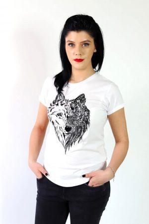 Tricou personalizat pictat Lup Mandala - Piticool ART