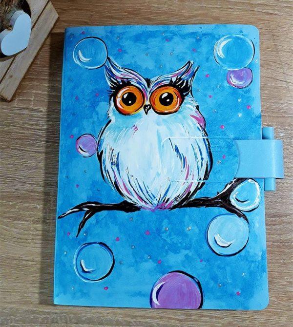 Agenda pictata - Bufnita albastra | Piticool ART