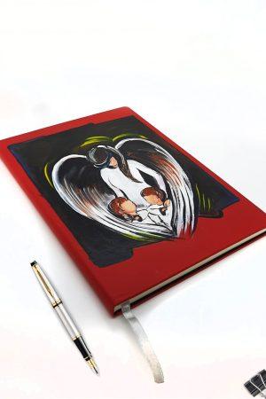 Agenda personalizata, pictata manual - Angel