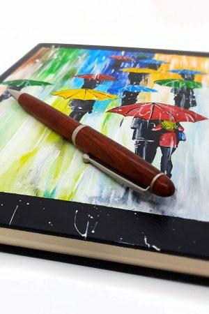 Agenda personalizata pictata manual - Umbrele colorate