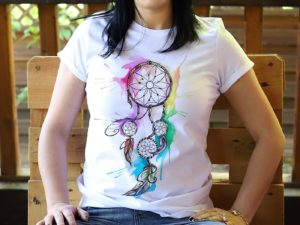 Tricou personalizat, pictat manual Dreamcatcher