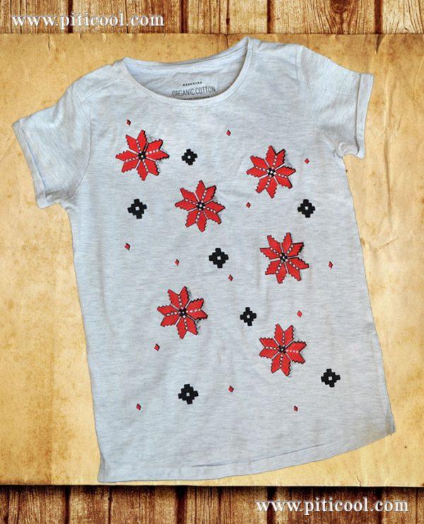 Tricou personalizat cu motive traditionale romanesti