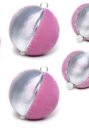 Set Globuri handmade, Pink Joy 8 buc - Piticool ART